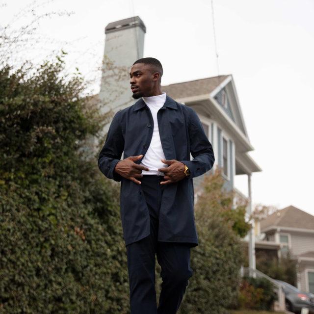 @OlatunjiBalling taking the week by storm in our Water-Resistant Mac Jacket.