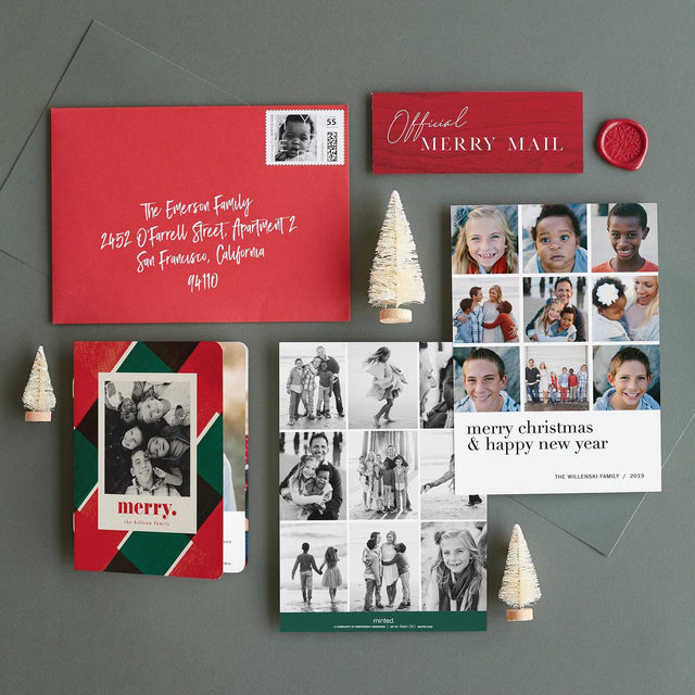 This year's Minted's holiday mail superlative selections are in → 1. Most mileage out of a family photoshoot 2. Most to say 3. Most artful 4. Most matching 5. Most extra 6. Most fun. — Which one is your favorite set? 🎄