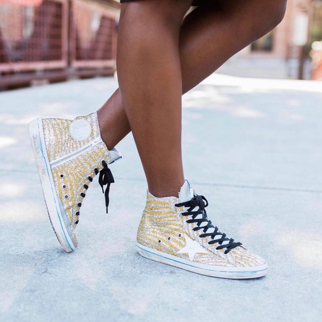 Stay Golden this holiday season. ✨ Head to our Shop highlight to shop Golden Goose sneakers. (📸: @faiththroughfog)