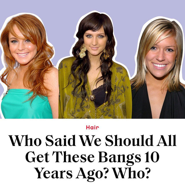 One thing revealed by the #10YearChallenge: almost every Glamour staffer rocked these bangs in 2009, regardless of age, location, and style. How did this happen? An investigation at the link in bio.