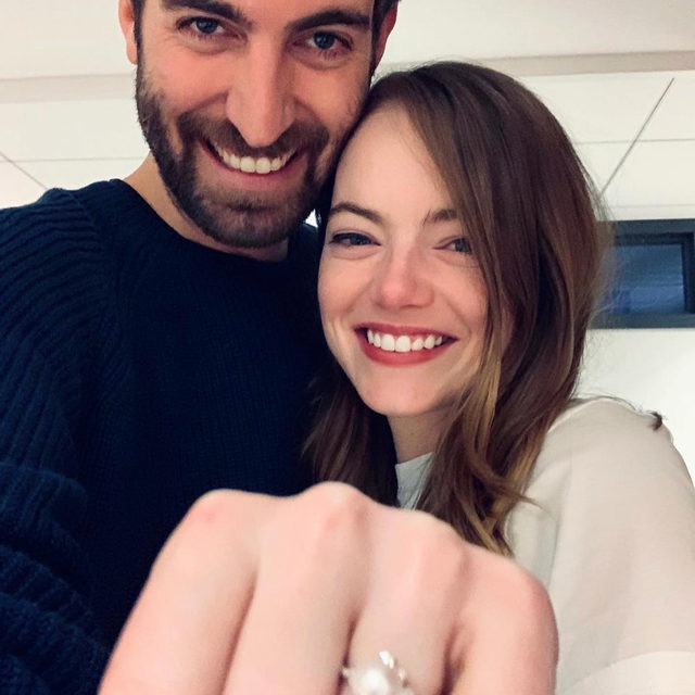 Emma Stone is engaged 💍 ! Link in bio for all the details.