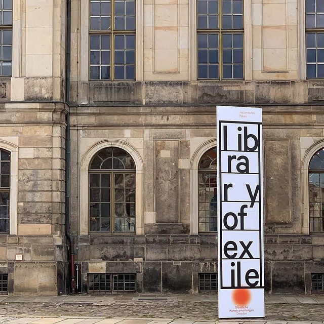 """""""The point about why libraries matter is that you are completely alone in the library—you are irreducibly there, by yourself—but you are surrounded by voices. It's a plural existence."""" —Edmund de Waal  Visit Edmund de Waal's """"library of exile"""" at the Japanisches Palais in Dresden, Germany! De Waal has constructed a small library that houses two thousand books written by exiled authors from Ovid's time to the present day. The external walls of the library are inscribed with a new text piece listing the lost and erased libraries of the world. Inside, embedded in the bookshelves, is a quartet of de Waal's large-scale vitrines, containing porcelain vessels and page-like brackets of steel. This exhibition hastraveled from the Ateneo Venetoin Venice.  Follow the link in our bio to watch de Waal speak about the project in a recent """"Gagosian Quarterly"""" video. __________ #EdmunddeWaal #Gagosian @japanischespalais.skd @skd.museum @ateneoveneto  #Repost: @edmunddewaal"""