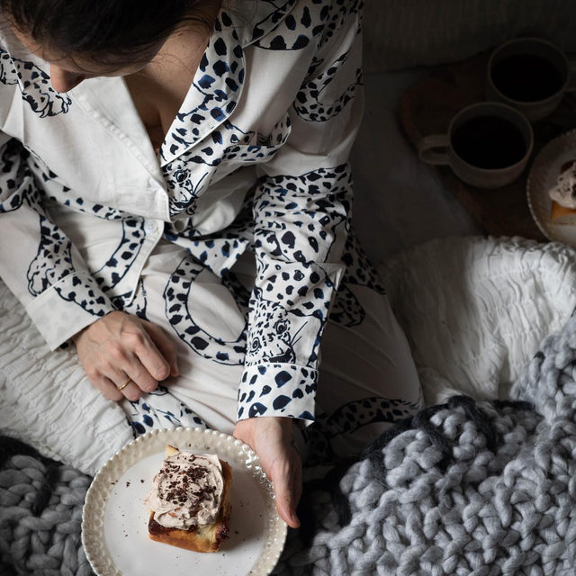 Here's to PJ days 💤☕ Photo by @twiggstudios (link in profile to shop)