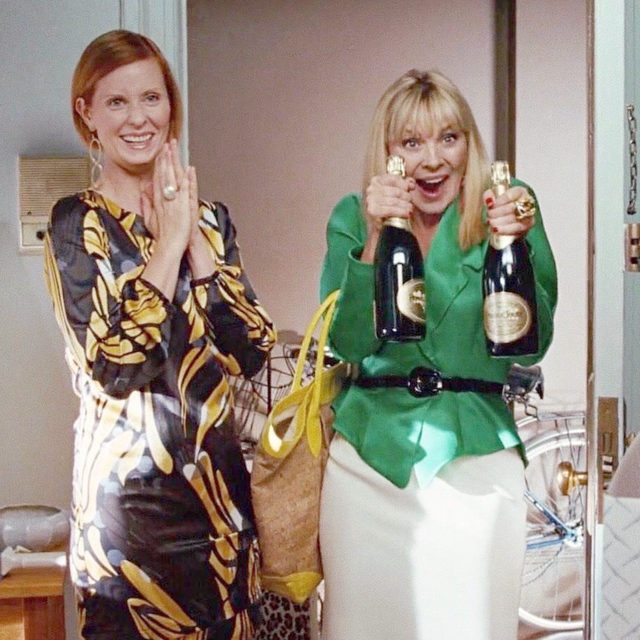 "Your bestie deserves the best 🍾! Tag the Samantha in your life and tap the link in bio for our ""best friend"" gift guide. 📸: @everyoutfitonsatc"