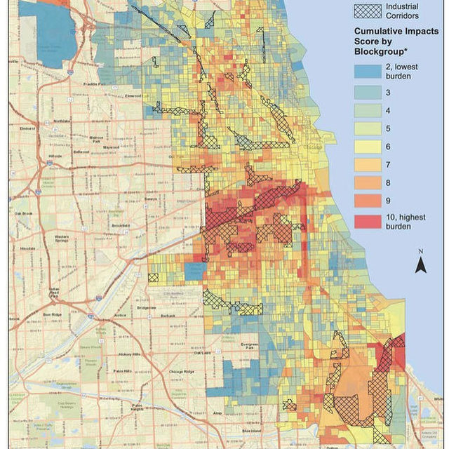 "If you look at NRDC's map of Chicago neighborhoods most burdened by health and pollution threats, what do you see?👀 🗺 Certainly a ""bright red gash"" 📌that runs down the Southwest Side. ➡ In this area lives a Latinx neighborhood called Little Village. In 2012, Little Village successfully closed a coal-fired power plant that polluted their neighborhood for decades. 💪 But now, an industrial real estate development company, Hilco, will tear the coal plant down and plans to replace it with an e-commerce warehouse— which will bring hundreds of diesel-powered trucks 🚛👎 to a neighborhood already facing environmental racism. Little Village & its environmental justice organization, @lvejo20, are saying #HellNoHilco! 🙅‍♀️ Learn more about this resilient neighborhood by visiting the link in our bio. Is there an environmental justice community near you? Tell us 👇 - #environmentaljustice #chicago #pollution"