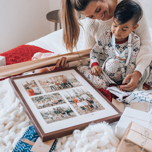 """Darling moments with @carolinaaandes. It's the last day for our #MintedMoreDays and all gifts onsite are 25% off + free shipping for our Minted More members. This offer ends tonight at 11:59pm PT. Shop now or join Minted More by tapping the link in bio. #MintedHoliday — """"Deckled"""" photo art @julieatupupcreative"""