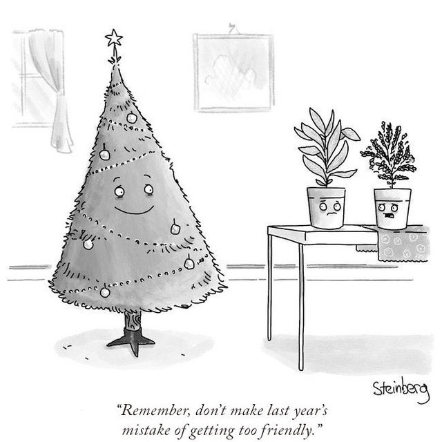 The lonely Christmas tree. #TNYcartoons