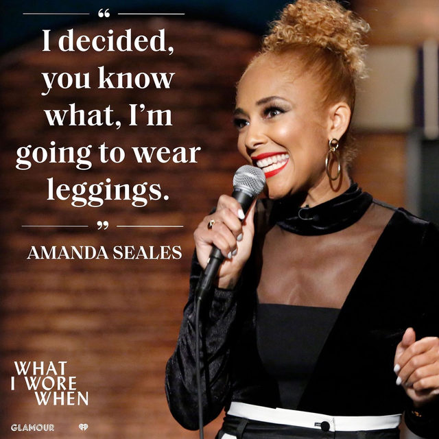 Honestly, same☝️. On this week's epsiode of 'What I Wore When,' @amandaseales talks with @perriesamotin about her massive leggings collection, performing on stage, and the shifting landscape for women in comedy. Link in bio to listen and subscribe.
