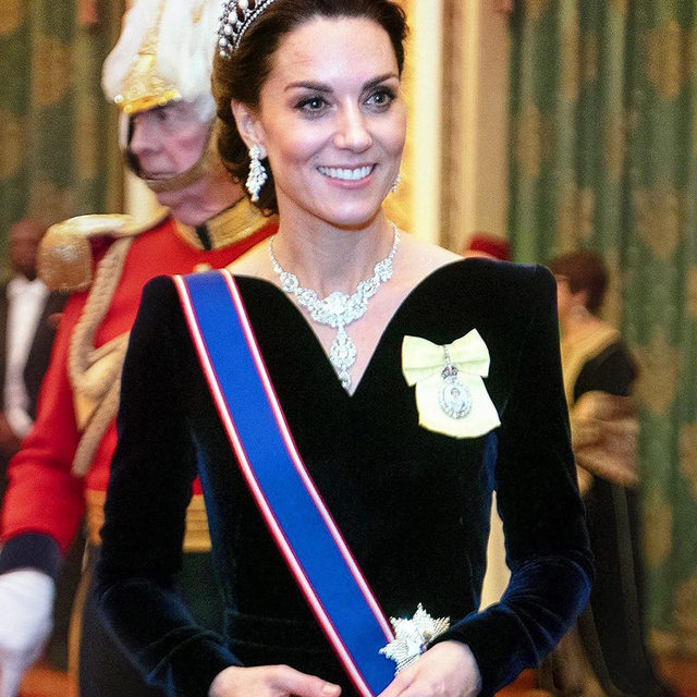 Kate Middleton has worn a tiara only 10 times (yes, you read that right). Last night, she wore her favorite for a reception hosted by the queen. Tap the link in bio to see them all.