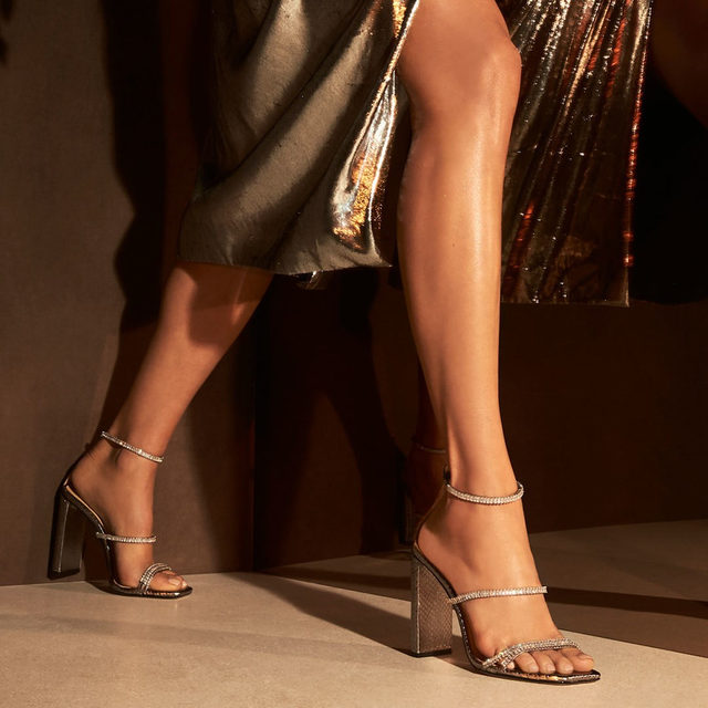 Don't miss the chance to explore the holiday collection from Alexandre Birman. Featured here is the Lacy Zirconia sandal. #AlexandreBirman #Sandals