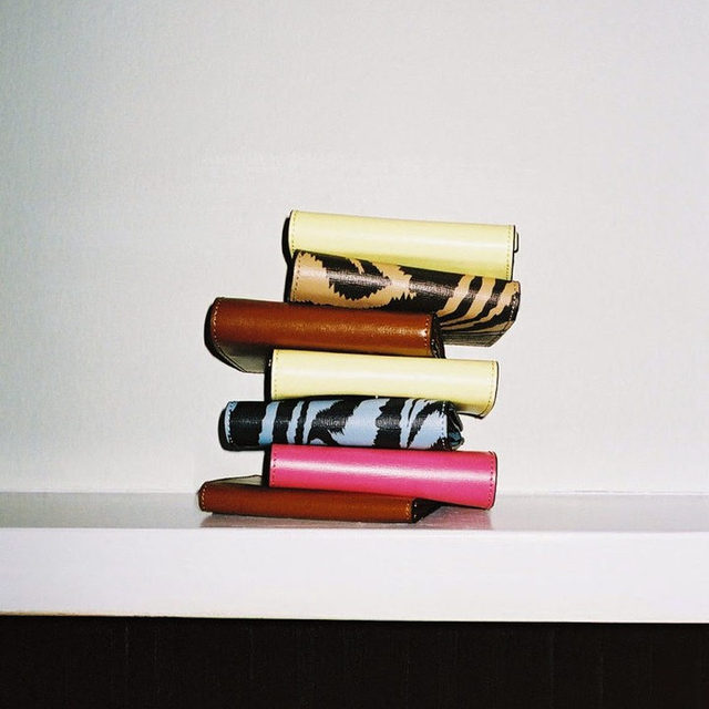 Small leather goods  Handcrafted in soft leather Discover mini wallets & large pouches at ganni.com & in-store  #gannigifting