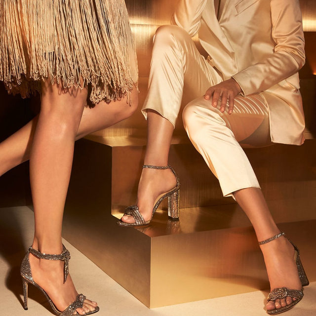 Our iconic styles, the Clarita and the Vicky, your most-wanted New Year's Eve shoes. #AlexandreBirman #Sandals