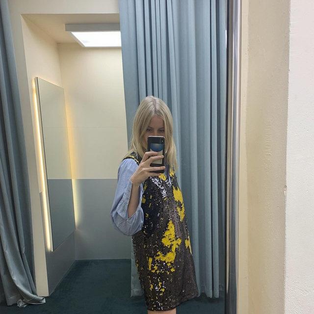 @line_dalgaard wears our two-way sequin vest dress #GANNIGirls