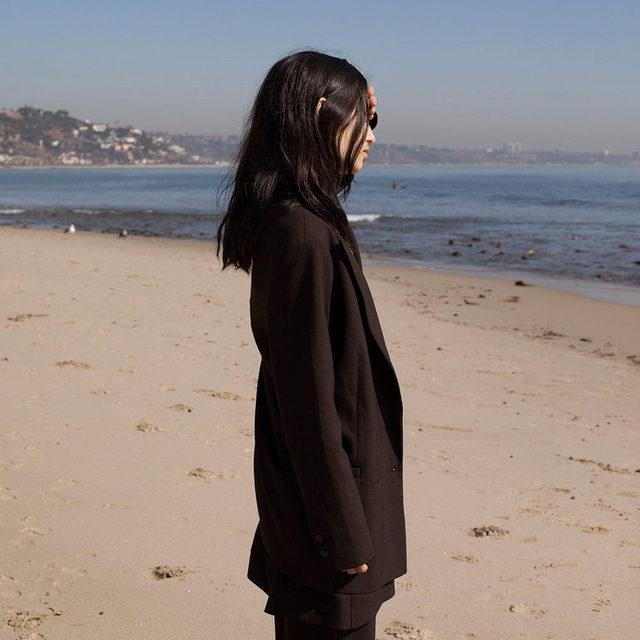 🐬 @_babytime98_ wearing Pre-Spring blazer & trousers Shot by @clareshilland in LA  #ganni