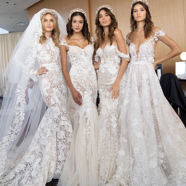 What it looks like when all of your friends are getting married. 👰🏼 2020 brides, we're talking about you! 👀 Head to the #linkinbio for the biggest wedding dress trends of the new year. | #regram: @bertabridal