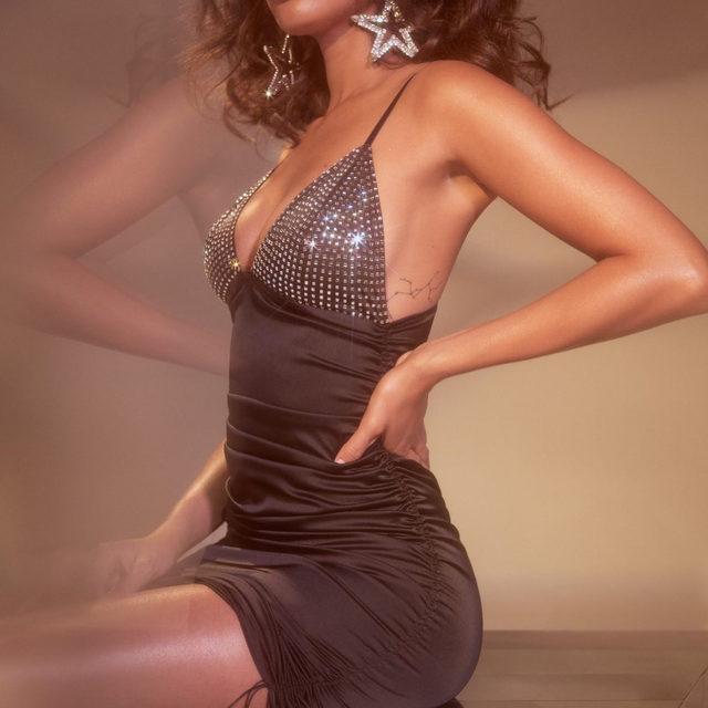 Diamond girl | The Mirage Mirrored Dress #FLLxVS