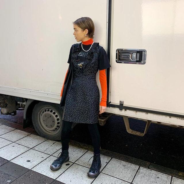 @emmafridsell in our recycled polka dot dress #BaumFamily . #BaumundPferdgarten