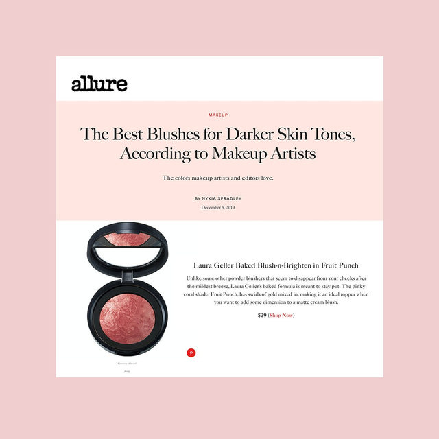 Our Baked Blush-n-Brighten packs a (Fruit) Punch ✨ Thanks for the love, @allure!  Find your perfect shade on laurageller.com . . . #lauragellerbeauty #theauthorityinbaked #bakedmakeup #blushnbrighten #smartmakeup #blushcrush