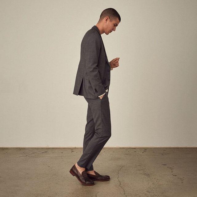 SLIM SHARKSKIN SUIT | 20 PIECES FOR 2020 | Featuring elements of tailoring.  Button up. This year's a big one.