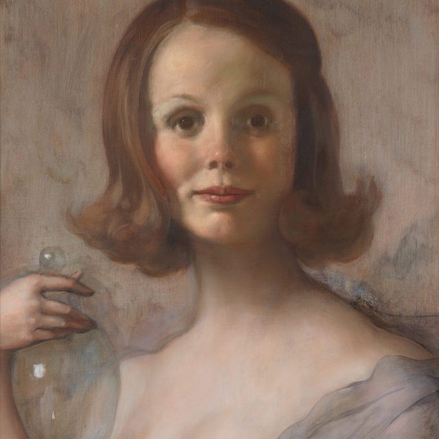 """#JohnCurrin: Join us for a tour of John Currin's first solo exhibition in Asia, currently on view at Gagosian, Hong Kong. The tour will take place on Wednesday, February 19, at 6pm.  The exhibition presents a new series of portraits by Currin featuring his most beloved subject: women. Gagosian director Nick Simunovic will examine the genre of female portraiture in Currin's oeuvre and explore how the artist channels his prodigious painterly skills into idealized yet perverse images that both charm and challenge. To attend the free event, RSVP to hktours@gagosian.com. Space is limited. __________ #Gagosian  John Currin, """"Shelley,"""" 2019 © John Currin. Photo: Rob McKeever"""