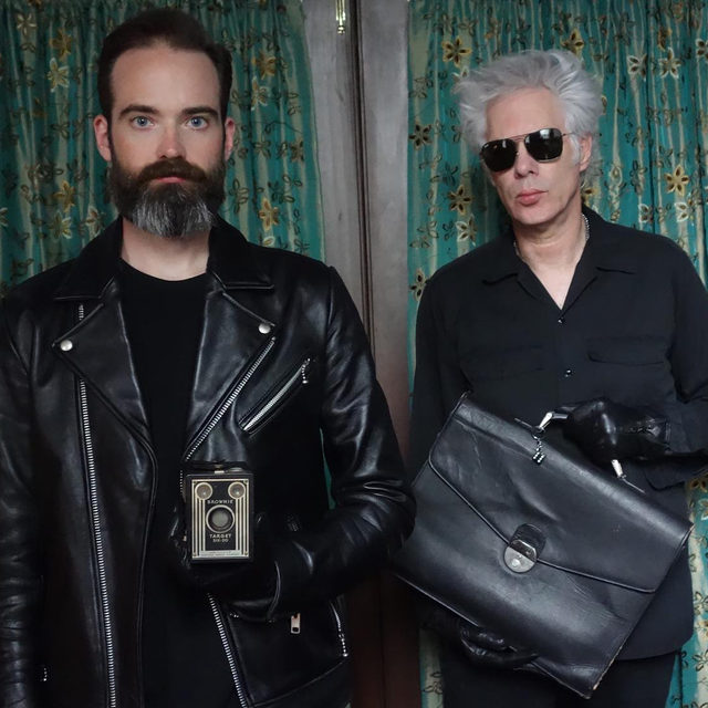 """Next Thursday, Gagosian is presenting a performance in San Francisco by SQÜRL, featuring filmmaker and composer Jim Jarmusch and producer and composer Carter Logan, in association with the exhibition """"Man Ray: The Mysteries of Château du Dé."""" . SQÜRL will perform live original scores to four films by Man Ray: """"L'étoile de mer"""" (1928), """"Emak Bakia"""" (1926), """"Le retour à la raison"""" (1923), and """"Les mystères du Château du Dé"""" (1929). To join the wait list for the event, RSVP to rsvpsf@gagosian.com. Follow the link in our bio to learn more.  The exhibition of works by Man Ray opens on Tuesday at Gagosian, San Francisco.  __________ #ManRay #SQURL #Gagosian @squrlband SQÜRL (Carter Logan and Jim Jarmusch). Photo: Sara Driver"""