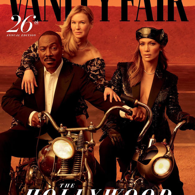 The 26th Vanity Fair Hollywood Issue is here. Starring Eddie Murphy, Renée Zellweger, Jennifer Lopez, and 20 of 2020's brightest stars—together, they tell a story about the dreams that power Hollywood, and all the different roads that lead there. See the full #VFHollywood portfolio at the link in bio. [1/2]  Photographed by @ethanjamesgreen Styled by @samiranasr Set design by @frau.juliawagner