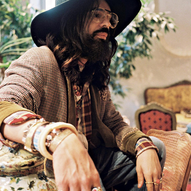 """On the occasion of the @Gucci Men's Fall-Winter 2020 Show in Milan, read in @LUOMOVogue's Utopia Issue the interview with Creative Director @Alessandro_Michele by @poeticallypunk. """"Decoration is a part of me. I will do it again, be sure, but I will do it differently."""" More changes are afoot, however, as Gucci, after a few years of co-ed shows that promoted an archly individualistic gender-defying aesthetic, will again stage separate fashion shows for menswear and womenswear. """"I know people will think I am crazy. After all, I made such a big statement by showing men and women together. This said, I feel like I am in a stage of my personal evolution in which by focusing on certain things, I can tell them better, by taking away instead of adding."""" Gucci's return to the Milanese men's calendar comes at a meaningful time, exactly five years after the revolution started. Read the full interview on the pages of our Utopia Issue and discover more via link in bio. Portrait by @blackpierreange"""