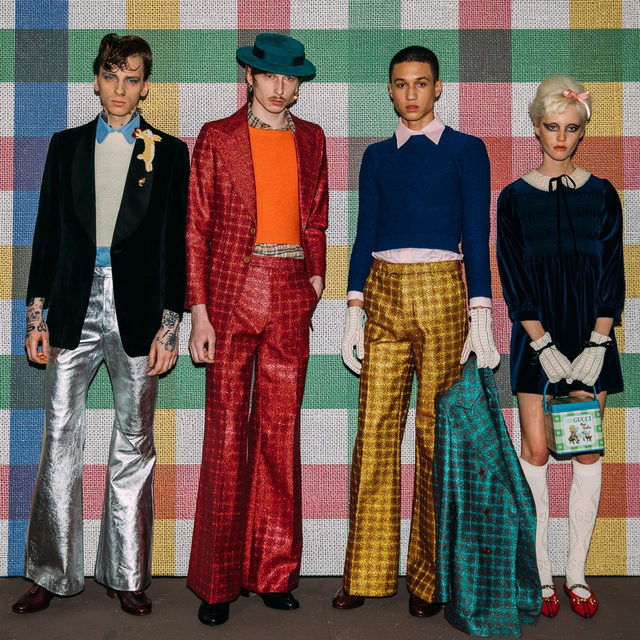 """Notes for the @gucci fall 2020 men's collection spoke of a rejection of toxic masculinity and an embrace of a genderless form of beauty. """"Toxic masculinity, in fact, nourishes abuse, violence, and sexism. And not only that. It condemns men themselves to conform to an imposed phallic virility in order to be socially accepted,"""" read the press release. To paraphrase: The patriarchy is over.  Tap the link in our bio to read more. Photographed by @styledumonde"""