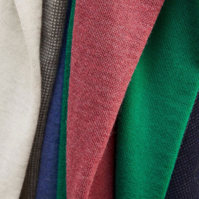 Rich in color, incredibly soft and designed for long-lasting durability, these sweaters are crafted with a superior yarn from an Italian mill.