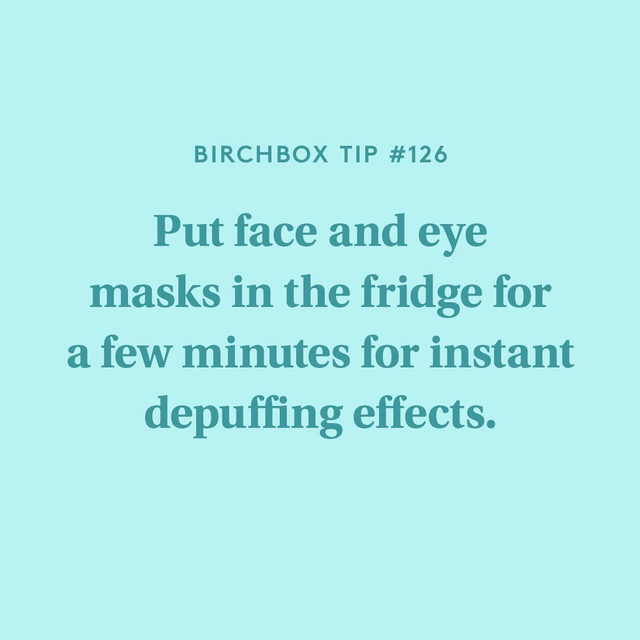 Here comes the science bit: Cold temperatures can constrict blood vessels which helps swelling go down. #whoknew  P.s This works for gel products too. Swipe for one of our favorite eye gels from @malinandgoetz
