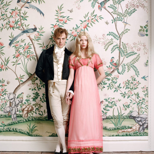 """Meet #JohnnyFlynn and @anyataylorjoy, the leads in @autumndewilde's much-anticipated new adaptation of @emmafilm.  De Wilde's background is in music and fashion photography, and her first foray into feature filmmaking is overtly gorgeous: a riot of feathered bonnets, corkscrew curls, and colorful carriage dresses. """"It's like swimming in a giant cupcake,"""" says Taylor-Joy.  Tap the link in our bio to read more. Photographed by @autumndewilde, Vogue, February 2020"""