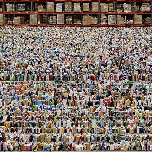 """""""My photographs are 'not abstract.' Ultimately they are always identifiable. Photography in general simply cannot disengage from the object."""" —Andreas Gursky  Happy birthday to Andreas Gursky who was born on this day, January 15, in Leipzig, Germany.  Gursky was in conversation with Jeff Wall for a feature in """"Gagosian Quarterly,"""" discussing the state of photography and the evolution of the medium. Follow the link in our bio to read the article online. __________ #AndreasGursky #Gagosian  Andreas Gursky, """"Amazon,"""" 2016, inkjet print, 81 ½ × 160 ¼ × 2 7/16 inches (207 × 407 × 6.2 cm) © Andreas Gursky/Artist Rights Society (ARS), New York/VG Bild-Kunst, Bonn"""