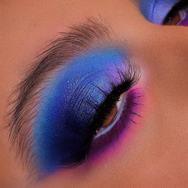 I'll take a shot of colour and chase it down with some lashes. 💙💜 @katrinamaryy blew us away with these vibrant hues, topping it up with She-E-O from our Fluff'n Glam collection. ✨ Tap to shop the look, our entire Fluff'n Glam collection is available online & in-store exclusively @sephora. ✨  #VelourLashes #VelourBeauty #LiveInLashes #SephoraExclusive #TrendingAtSephora