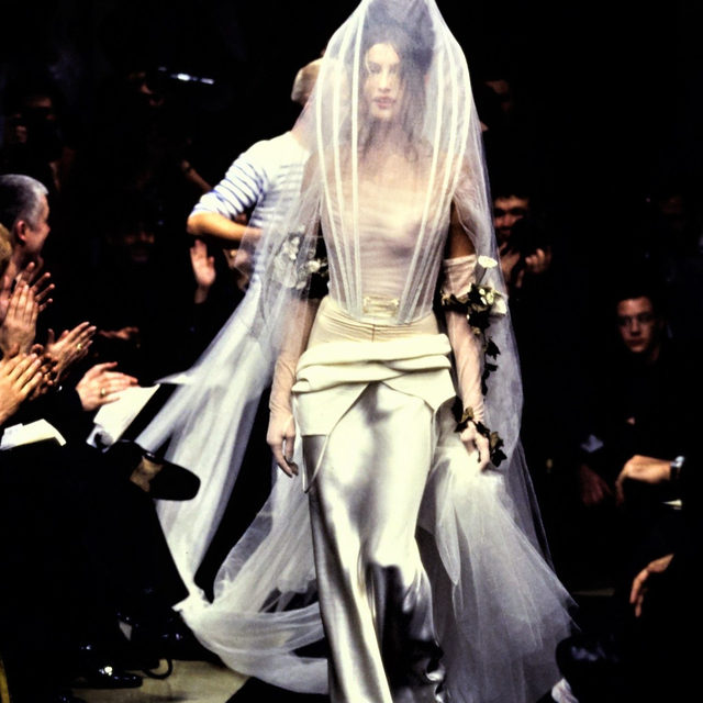 """Jean Paul Gaultier announced yesterday that he will present his final couture collection for fall 2020. """"This show celebrating 50 years of my career will also be my last,"""" he wrote. To mark the news, we are publishing Gaultier's spring 1997 couture debut–tap the link in our bio to see the collection."""