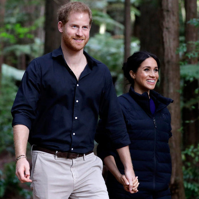 "It's official! Harry and Meghan are no longer working members of the Royal Family. 😱 Read more about this royal mixup and Harry and Meghan's next steps towards ""building a happy and new peaceful life"" at the link in bio."