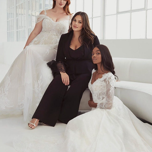 Designed to make you both look and feel sensational. Strut down the aisle glowing with confidence. #AshleyGrahamXPronovias Collection in stores March 2020. Check our Stories to discover more.