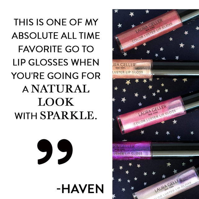 SPARKLE & SHINE 💫 Color Luster Lip Gloss is perfect for your pout. . . . #lipgloss #lauragellerbeauty #laurageller #glossgoals.