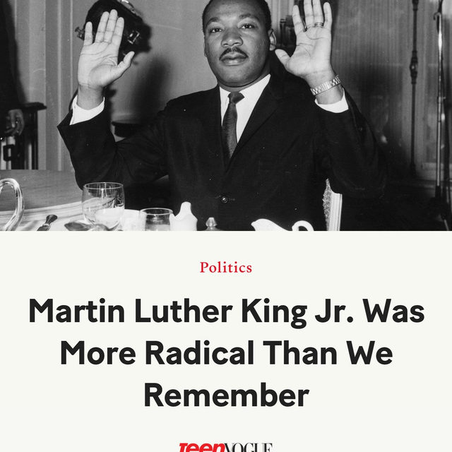 This Martin Luther King Jr. Day, we would do his memory justice by honoring all of his legacy. Not just the parts that make white Americans comfortable. At the link in bio, read more about Dr. King's true legacy as a radical, anti-racist organizer who shed a powerful light on white supremacy.