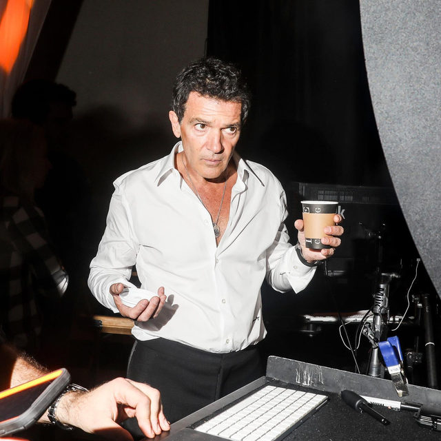 Channeling Antonio Banderas this morning, coffee in hand ☕️ See more behind the scenes photographs from our #VFHollywood issue at the link in bio.