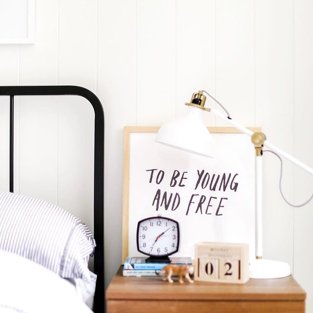 "Said every parent, ever. 😴 #MintedArt — ""Young and Free"" @junelettersstudio. Photo @monikahibbs."
