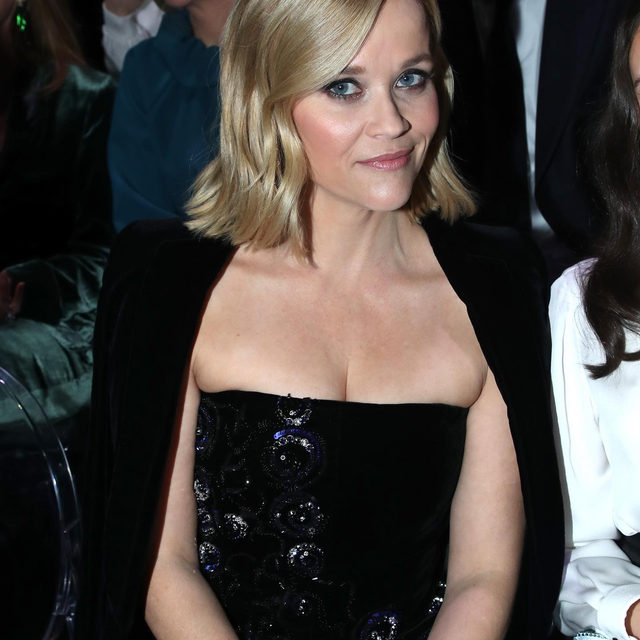 Stars attending the Haute Couture Week in Paris: @ReeseWitherspoon at the @Armani #GiorgioArmaniPrivé Spring-Summer 2020 fashion show. See the full collection at the link in bio.