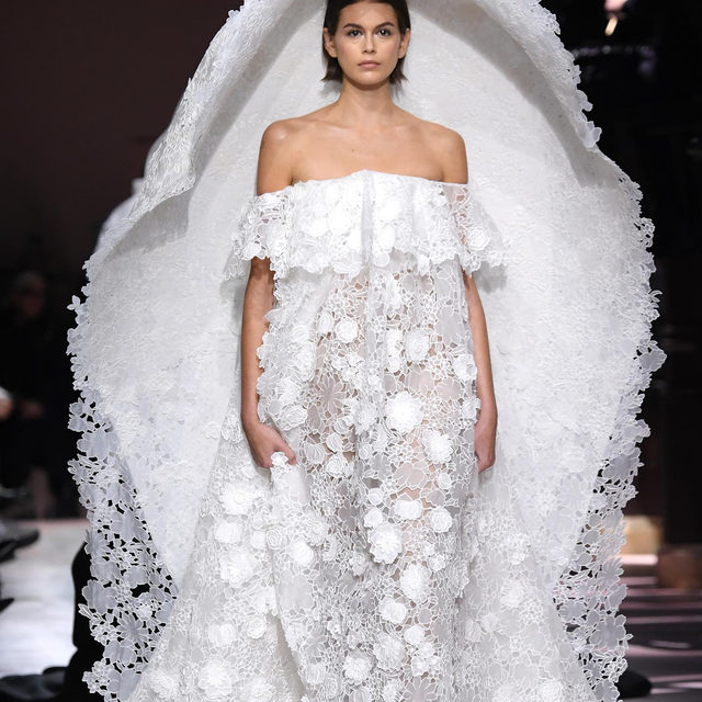 The #GivenchyCouture Bride is @KaiaGerber: watch the @Givenchyofficial Haute Couture Spring-Summer 2020 Collection designed by @ClareWaightKeller in Stories. #pfw