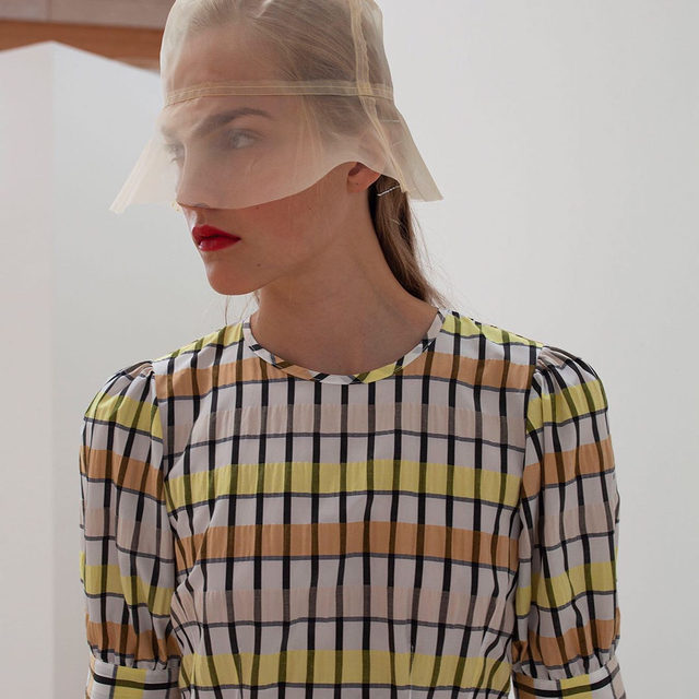 The Aurelia mini dress in new season checks . #BaumDANCE #SS20 #BaumundPferdgarten