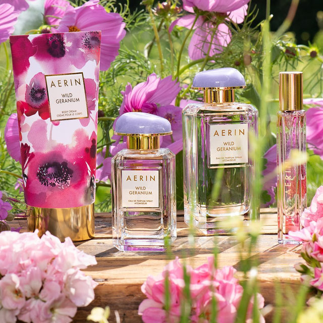 Open a bottle of #WildGeranium and let your imagination flourish.. The most inspiring floral green fragrance.. Available now on AERIN.com #AERINbeauty