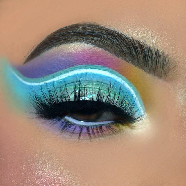 Who loves pastel makeup? 👀💙 Comment down below if you want to see us create some pastel themed collection next! 😜  @beautybypol created this pastel neon cut crease with the lash Feelin' Myself. ✨ Tap to shop the look, our entire Fluff'n Glam collection is available online & in-store exclusively @sephora. ✨  #VelourLashes #VelourBeauty #LiveInLashes #SephoraExclusive #TrendingAtSephora