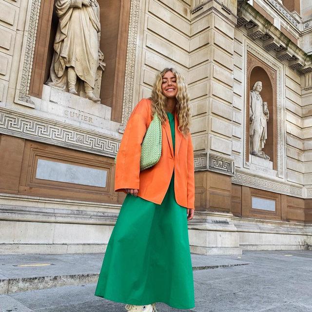 @emilisindlev in our orange Becks blazer 🧡 #BaumFamily . #BaumDANCE #SS20 #BaumundPferdgarten