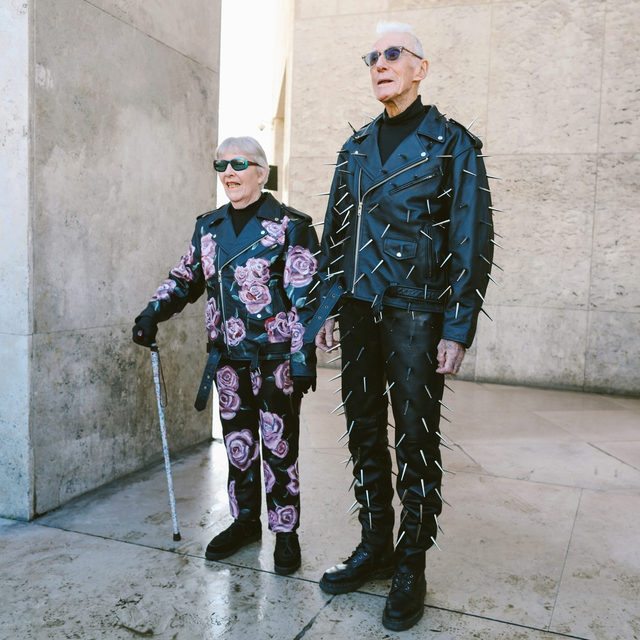 @egon_lab's brand ambassadors are not your usual models: Marie-Louise and René (above) are 85 and 86 years old, respectively. They're the grandparents of Florentin Glémarec, one half the design duo behind @egon_lab. Tap the link in our bio to meet them. Photographed by @mrstreetpeeper