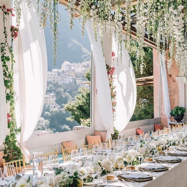 BRB, pretending we're at a warm, sunny wedding brunch in Italy. 🌞Head to the #linkinbio for 10 venues in Europe that are just as breathtaking! | 📸: @giannidinatale_photographers 📋: @weddings_italy 💐: @giuseppesting_florist