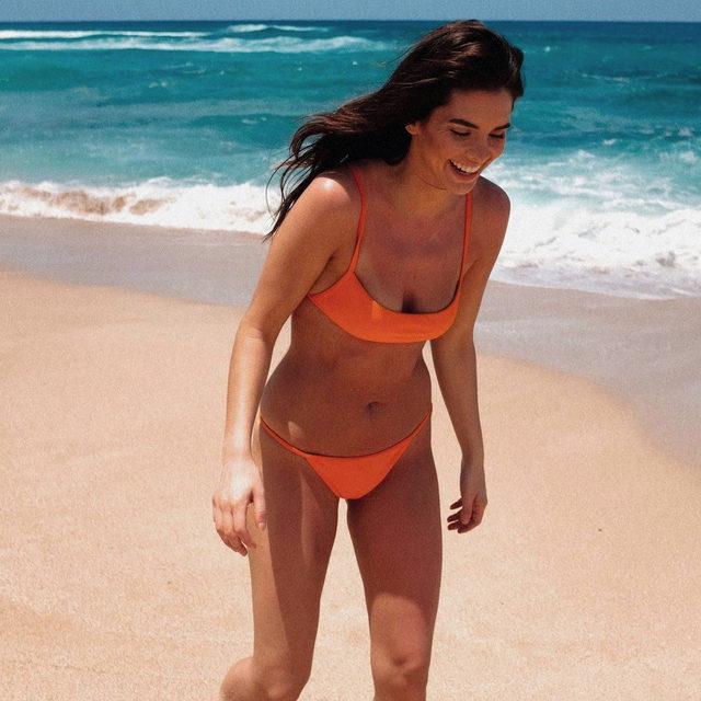 cherish every moment ✨ @jasminealleva in the Scorching Top + Bottom - link in bio to shop! #lovewavebabe