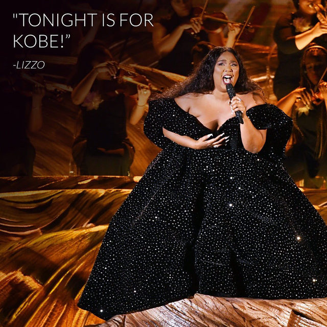 Lizzo opened the #Grammys the only way she could have — with a dedication to Kobe Bryant. Link in bio to watch her performance. #TwentyFourever (📷: Getty Images)